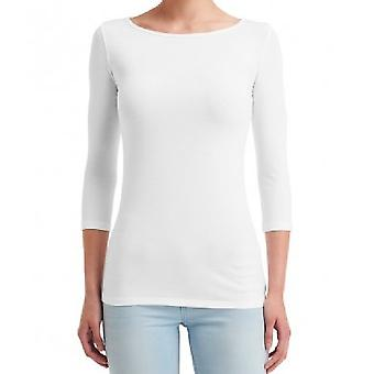 Anvil Womens/Ladies Stretch 3/4 Sleeve T-Shirt