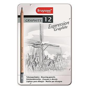 Bruynzeel Expression Graphite Pencil Set of 12