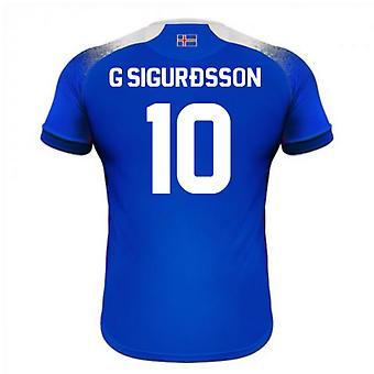Maillot de foot domicile Errea 2018-2019 Islande (G Sigurdsson 10)