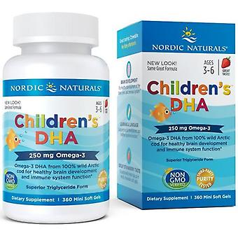 Nordic Naturals Dha for children 250 mg 360 soft capsules
