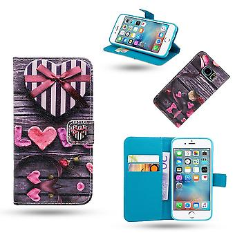 iPhone 5/5s/SEE-Case/leather wallet-Love