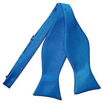 Elektrisk blå almindelig Satin Self-tie Butterfly