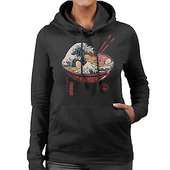 Great Wave Ramen Women's Hooded Sweatshirt