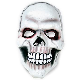 Cranio maschera bianca mezza maschera horror LaTeX Halloween