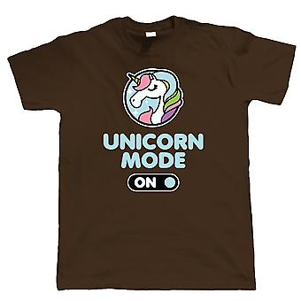 Unicorn Mode On, Mens Funny T Shirt | Guest Artist JG