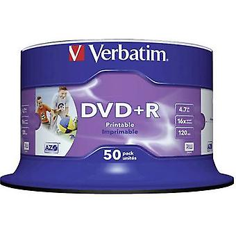 Verbatim 43512 Blank DVD-R 4,7 Go 50 pc(s) Spindle Imprimable