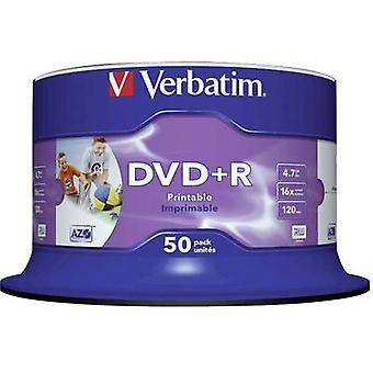 Verbatim 43512 Blank DVD+R 4.7 GB 50 pc(s) Spindle Printable