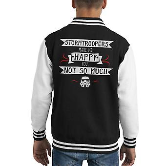 Original Stormtrooper Make Me Happy Kid's Varsity Jacket