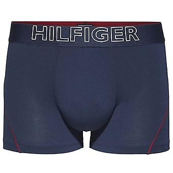 Tommy Hilfiger Cotton Athletic Trunk, Navy / Red Stitching, Small