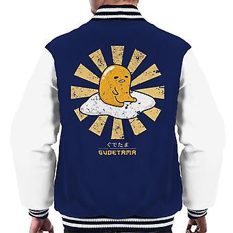 Gudetama Retro japanische Männer Varsity Jacket