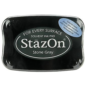 StazOn Solvent Ink Pad-Stone Gray
