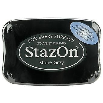 StazOn Solvent Ink Pad-Stone Gray