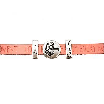 Women - bracelet - tree of life - WISHES - rose - pink - magnetic lock - hope - survivor