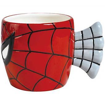 Cara de hombre araña rojo taza de Chocolate caliente