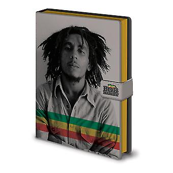 Bob Marley premium notebook photo DIN A5, hardcover, look & feel like leather, hardcover, 240 pages lined.