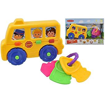 Baby School Bus Combo Set Toy Fun Xmas Gift Plastic Kids Activity Colourful 6+ Months