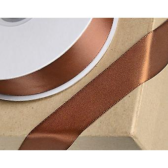 15mm Brown Satin Ribbon for Crafts - 25m | Ribbons & Bows for Crafts