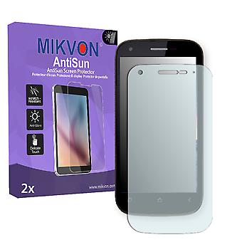 Wiko Cink Peax 2 Screen Protector - Mikvon AntiSun (Retail Package with accessories)
