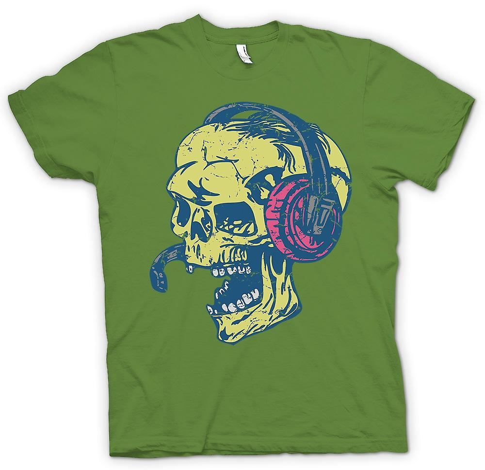 Heren T-shirt - Skull DJ - Skull And Bones