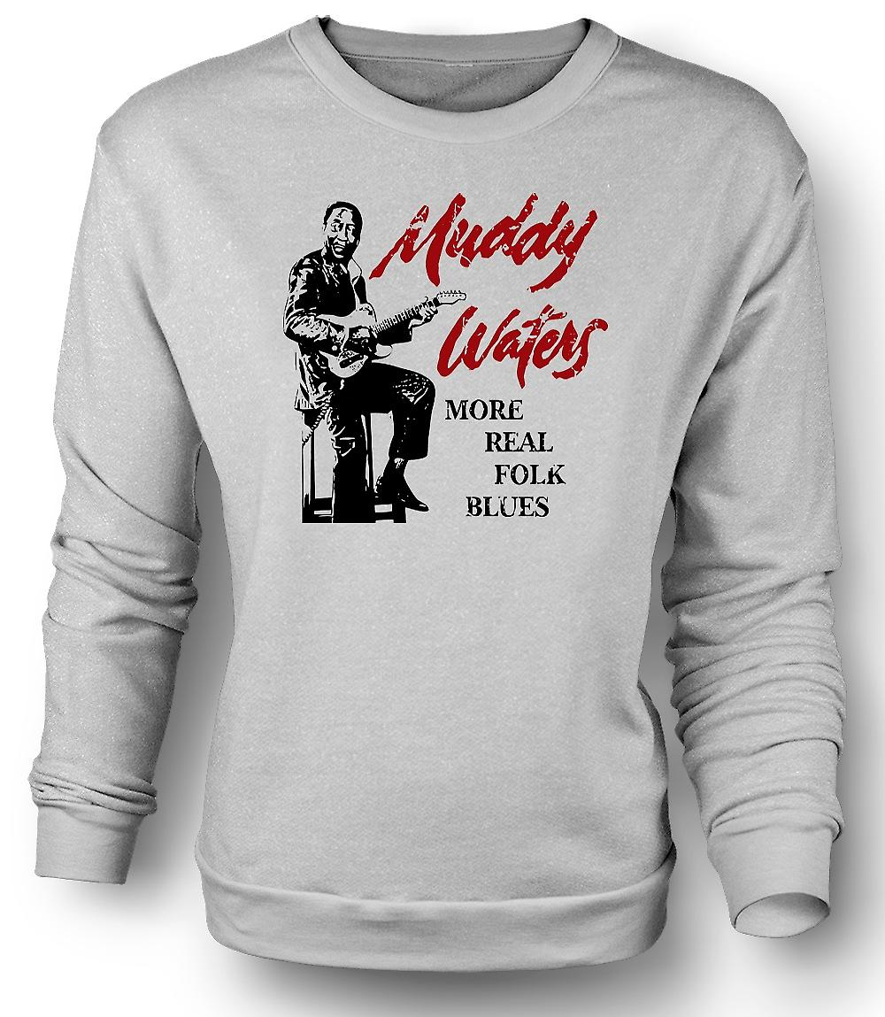 Mens Sweatshirt schlammiges Wasser - Real Blues - Guitar Legend