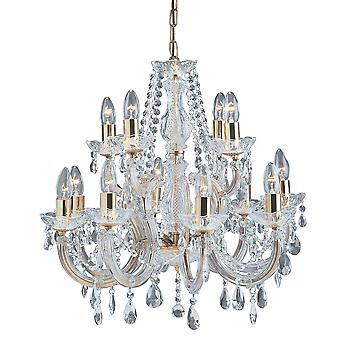 Searchlight 699-12 Marie Therese 12 Light Chandelier