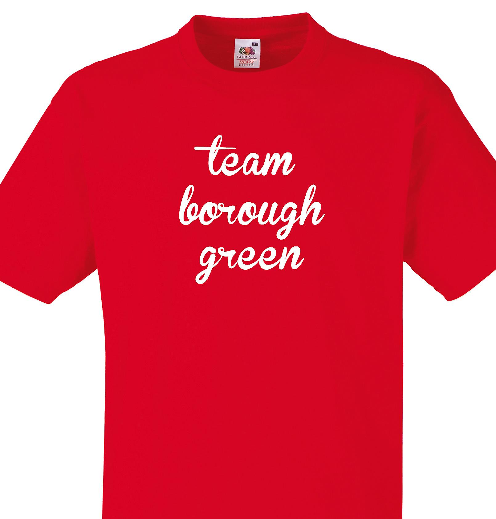 Team Borough green Red T shirt