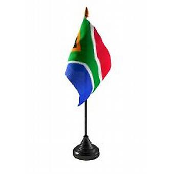 South Africa Table Flag with Stick and Base