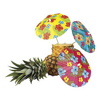Pack of 6 Cocktail Drinks Umbrellas 18cm 3 Designs BBQ Summer Garden Party Accessory