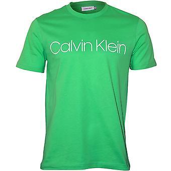 Calvin Klein Logo Crew-Neck T-Shirt, Spring Green
