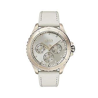 Męskie Hugo Boss zegarek kwarcowy dial Multi skórzany pasek 1502447 Kobieta