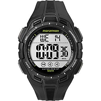 Timex TW5K94800 wrist watch, digital Dial resin band, Black/Black