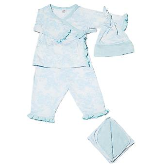 Baby Grey 4-pc. Gift Set (Ruffled Kimono top & Pant, Cap & Blanket)