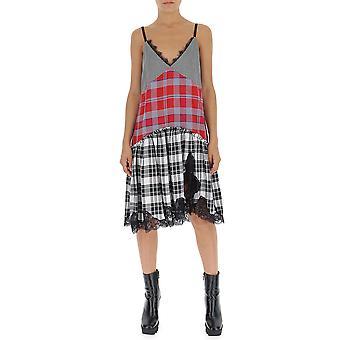 Semi-couture Red Cotton Dress