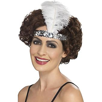 Womens 1920s Flapper archetto argento costume accessorio