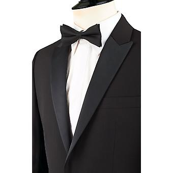 Dobell Mens Black 2 Piece Tuxedo Slim Fit Peak Lapel Evening Dinner Suit