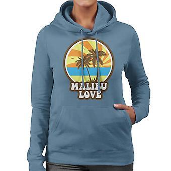 Malibu Love Retro solnedgang kvinners Hettegenser