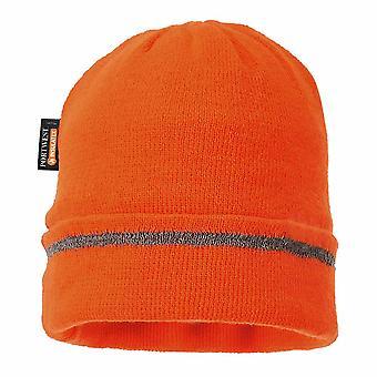 sUw - refleksyjne wykończenia dzianiny kapelusz Insulatex pokryte pomarańczowy regularne