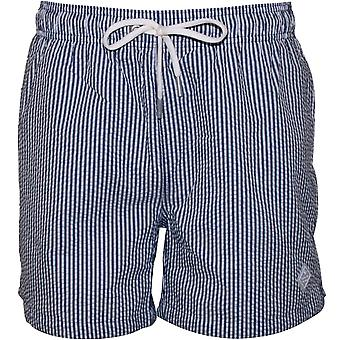 Gant Seersucker Swim Shorts, Persian Blue