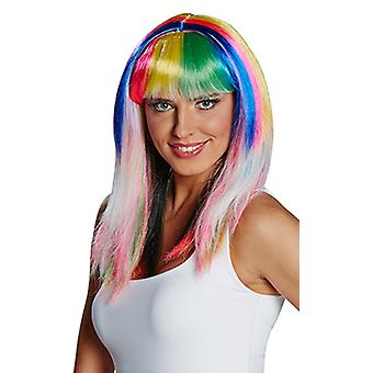 Colourful wig wig