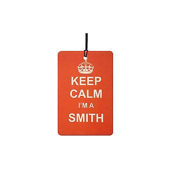 Храните спокойствие я Смит автомобилей освежитель воздуха