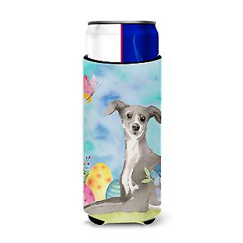Italian Greyhound Easter Michelob Ultra Hugger for slim cans