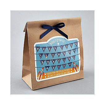 Floss & Rock Make Your Own Bunting Kit - Blue Space