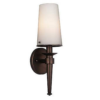 Philips Forecast F542770E1 1-Light Bath Torch Wall Sonce Lamp Merlot Bronze