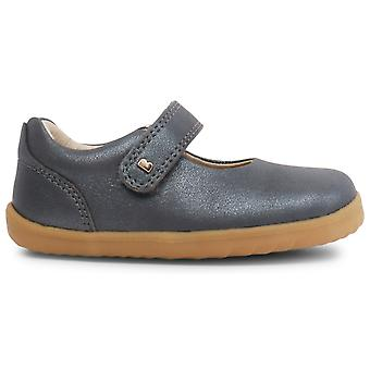 Bobux Step Up Girls Delight Shoes Charcoal Shimmer