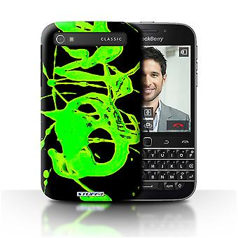 STUFF4 Case/Cover for Blackberry Classic/Q20/Green/Paint Splatter