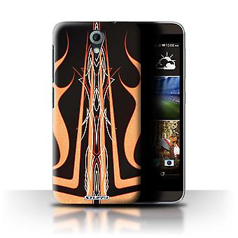 STUFF4 Case/Cover voor HTC Desire 820 Mini/zwart/oranje/Custom Paint Job