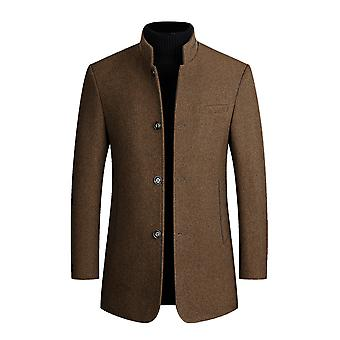 Allthemen Men's Stand Collar Thicked Warm Wool Autunno & Cappotto invernale