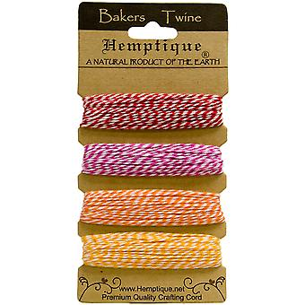 Hemptique Cotton Bakers Twine Card Set 2 Ply 410 Feet Pkg Candy Lane Btc2 2942