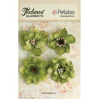 Textured Elements Burlap Blossoms 4 Pkg Pistachio P1200 214