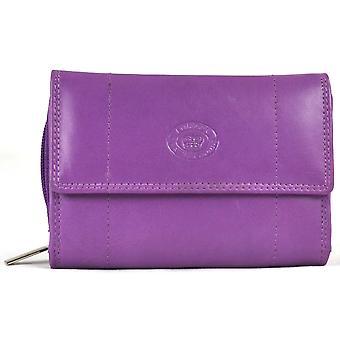 Skóra Nappa Zip wokół portmonetka - liliowy
